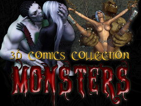 Monstrous collection of 3D MONSTERS comics! Tons of fantastic pictures!! Hot BABES hard fucked, gallons of cum, lots of big tits, shocking group sex and