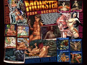 Who? Helpless babes (big boobs, tight pussies) and terrible monsters (huge cocks, ugly look). Where? In classic comic, kinky hentai and 3D pics and videos.