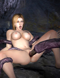 Game Girls gets fucked by multiple tentacles