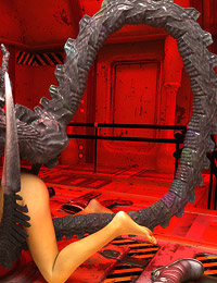 Hot astronaut girl gets contact of all kinds with an alien